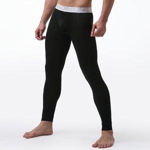 Erkek Uzun Johns İç Katı Renk Erkek Tayt Hombre Seksi Termal Külot Modal Esneklik Yumuşak Termico Long Johns 201125