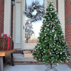 Бесплатная отправка от нас Рождественская елка 6FT 920 филиалы, стекающиеся спрей белое дерево плюс сосновая конус