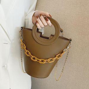 Sacchetto di secchiello in pelle di modo Somessa Borse a tracolla semplici Borse da croce da donna Borse da viaggio e borse Designer di lusso Frizioni Bolsos Bimba