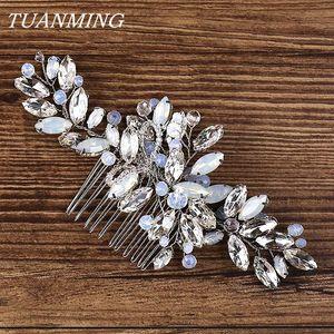 Cabelo de Cristal Combs Noiva Headpieces Bijoux de Tete Mariage Hair Combs Cabeça Acessórios Mulheres