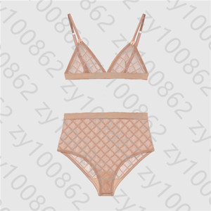Trend Lace Bras Sets Perspective Erotic Lingerie Women's Underwear Outdoor Beach Swim Two-piece Sets Underwear Hot Sale