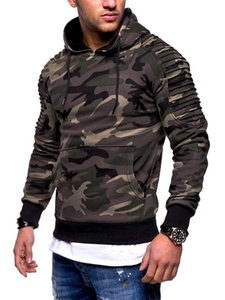 2020 New Men's Hoodies Autumn Sportswear Long Sleeve Camouflage Hooded Shirt Mens Brand Clothing Male Casual Sweatshirt