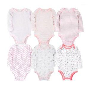 6pcs Toddler Roupas de Neworn Baby BodySuits Ensemble 100% coton bébé garçons filles filles pyjamas vêtements bébé manches longues sous-vêtements1