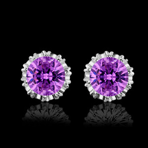 Crown Zircon Stud Earrings Trinket Woman Fashion Earring Jewelry Ear Studs Luxury Trend Hot Sale 2 3yd G2B