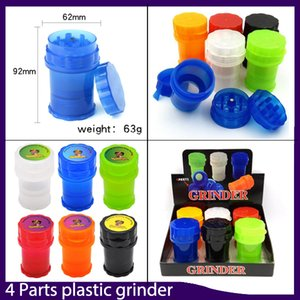 Grande vaso Med contenitore 4 parti in plastica Grinder Twist sicuro Lock System pepe smerigliatrici tabagismo Herb Muller 0.266.325-1