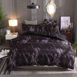 대리석 패턴 침구 세트 Duvet 커버 세트 2 / 3pcs 침대 세트 트윈 더블 퀸 퀼트 커버 침대 린넨 (시트 없음 작성 없음) 216 J2