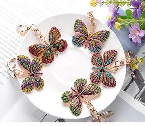 Nuovo progettista piccolo ciondolo creativo farfalla in lega piena di diamanti keychain la cosa migliore borsa ornamenti moda di vendita all'ingrosso