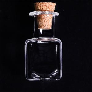 Belle petite bouteille de verre Tiny Clear Vide Vide Vitre Souhaitant un flacon avec bouchon de liège 25mm mini conteneur EEF4796