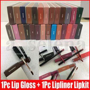 8 Farben Lip Make-up-Kit Flüssigkeit Matte Lippenstift Lipliner Make-up Lip Gloss lipliner multi Farben Lipgloss Kosmetik