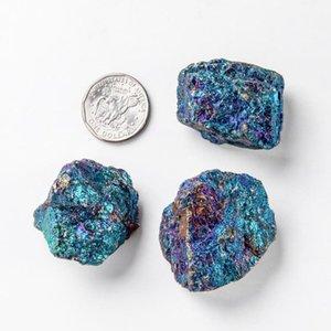 1 adet Doğal Kalkopirit Azurit Malakit Kuvars Kristal Pirit Gem Mineral Numune Reiki Şifa Taş 1 adet Qylnhz