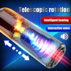 VibrationStelescopique Piston automatique Rotation Sucer Mâle Masturbator Coupe Artificielle Vagin Pussy Sex Toys pour Hommes