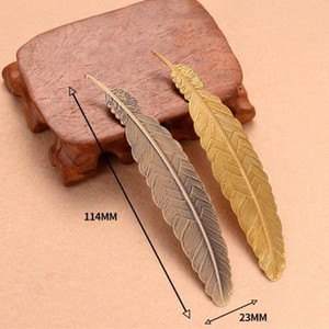 Fashion Metal Feather Bookmark Document Book Mark Label Golden Silver Rose Gold Bookmark Office School Supplies EWB2704
