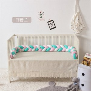 baby bed bumper Infant Crib Protector Weaving Knot Plush Baby Crib Bumper Protector Infant Pillow Room Decor 220CM 65Gn#