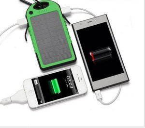 Waterproof Solar Power Bank double port USB LED Powerbank 10000mAh