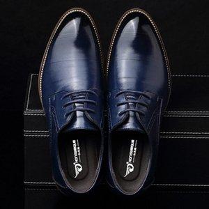 M-anxiu piatto Dress Uomo Classic Wingtip in pelle intagliata all'italiana Taglie Scarpe stringate a punta Men Casual Shoes partito