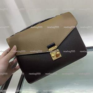 2020 Moda mujer bolso icónico oxidantes bolso de cuero pochette Metis bolsa de mensajero bolso crossbody toda partido 40780 con correa