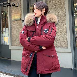 2020 Women 90% White Duck Down Jacket Fur Hooded Winter Coat Womens Thick Warm Parkas Female Outerwear Ladies