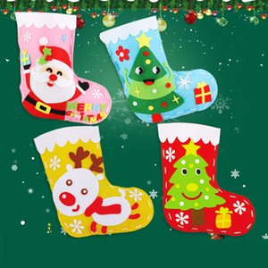 Kids Gifts Handicrafts DIY Christmas Socks Material Kit Kindergarten Educational Toys for Children Christmas Tree Decoration