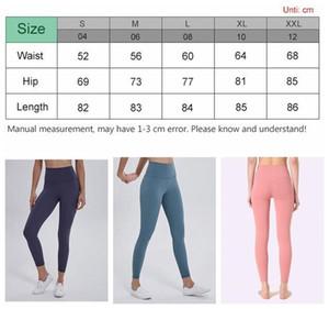 Kadınların tayt yoga pantolonları tasarımcıları egzersiz jimnastik aşınma lu womens 32 68 düz renk spor elastik spor bayan genel hizalama tayt shor OLe6 #