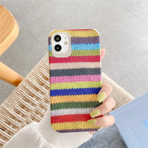 Colorful woolen Texture Pattern Phone Case For iPhone 8 7 plus X XS MAX XR TPU Silicone Soft Cover For iPhone 11 Pro Max