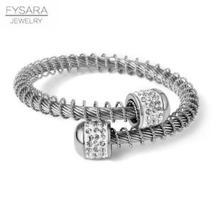 Cable Bracciale Donne Fysara regolabile braccialetto dell'acciaio inossidabile di modo del filo Wristband elastico Filo fascino Amante Gioielli yxlweg