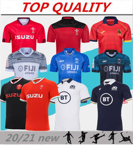 2020 2021 Rugby-Weltmeisterschaft Jersey Wales rote Jerseys 20 21 Rugby-Liga Spanien Rugby-Shirts Schottland Fidschi Tonga Shirts