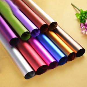 Pipe Pure Color Coller Papier Glossy Platinum Papiers Équipe Emballage manuel Matériaux Fond Bouquet Fond Bouquet Décorer Nouveau 11 5cy N2