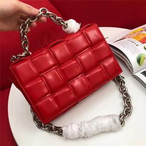 Neue heißen Verkauf der Qualitätsfrauen Handtasche breit Messenger Bags 2020 Mode-Tasche aus echtem Leder Beutel der Frauen-Schulter-Kette Tasche kleine quadratischen Taschen