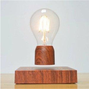 Lampada di levitazione magnetica Creatività Lampadina galleggiante per il regalo di compleanno Magnete Levitating Light per la stanza Decorazione dell'ufficio domestico Y0120