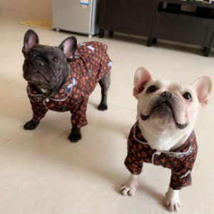 Brasão Small Dog Vestuário pet puppy Pijamas Poodle Bichon Roupa peluche do Natal Cotton Bulldog Boy Shirts Dog Pijama EF11