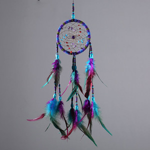 Colorful Wool Dream Catcher Wind Chime Net Home Furnishing Indoor New Trend Pendant Ornament Wall Hanging Feather Hot Sale 10 5xr M2