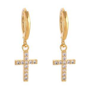 Cross Dangle Earrings Religious Jesus Stone Earrings Jewelry Crucifix Christian