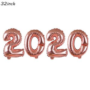 2020 Happy New Year Foil Latex Balloon Decor Paper Hanging Garland Photo Booth Frame Props Eve Party Christmas Diy Decoration jllwdj bdebag