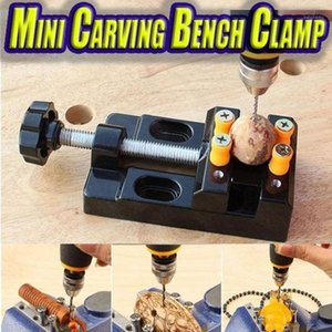 20# Miniature Hobby Clamp On Table Bench Vise Tool Vice Muliti-Funcational Table Vice Carving Bench Clamp Drill Press Flat1