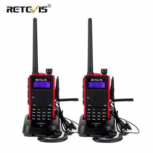 Portable Walkie Talkie 2pcs Retevis RT5 7W 128CH VHF UHF Dual Band VOX FM Radio Station Radio Transceiver Walkie-Talkie Pair