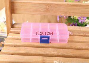 FedEx DHL Envío gratuito Ajustable 10 compartimento Caja de almacenamiento transparente de plástico para la herramienta Pendiente de la joyería Conta WMTLSX MyWJQQ