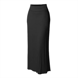Skirt High Waist Ladies Solid Color High Waist Casual Skirt Ladies Ball Bodycon Stitching Long Maxi