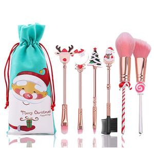 مكياج عيد الميلاد مجموعة أداة البسيطة ماكياج الجمال المحمولة فرشاة مجموعة إلك المبتدئين فرشاة الماكياج هدية عيد الميلاد