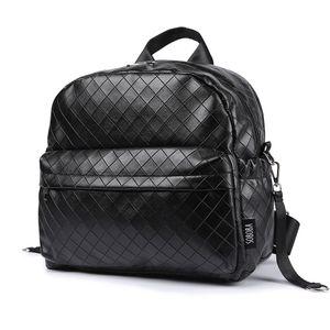 Soboba Black Plaid Large Capacity Diaper Bag Stylish Travelling Baby Stroller Bag Brief Maternity Backpack Fashionable Mommy Bag C1008