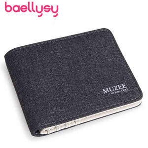 Animal Husbandry Of Yi Wallet Male Short Fund Canvas Wallet Day Student Small Cross Section Man Thin Section