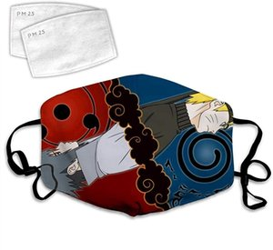 Cloth Face Mask Washable Naruto Wolf Anti Filter Dust Fabric Mouth Mask Reusable Custom B35