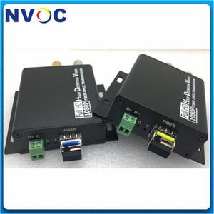 Full HD 1080P SM SX 20KM de alta definición Mini HD-SDI Media Converter vídeo a través de fibra óptica de transmisión con 1 canal RS485 inversa