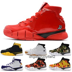 Mamba 1 Protro ZK1 Men's Kids Basketball Shoes,Men Black Camo Green Top Qaulity One 1s Sports Trainers Sneakers