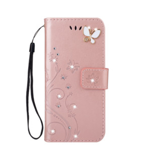 3D Butterfly Bling Diamond Leather Wallet Case For Iphone 12 MINI 12 Pro MAX 2020 5.4 6.1 6.7 11 XR XS MAX 8 7 6 SE Flower Holder Flip Cover