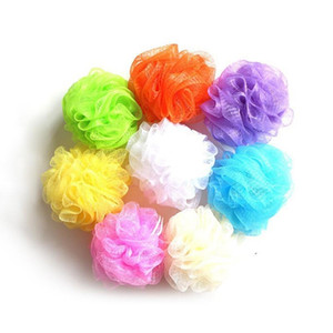 30 Gram Colorful Bath Shower Sponges Mesh Pouf Nylon Loofahs Small Mesh Bath Ball Mesh Bath Massage GGD2828