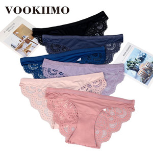 Underpant macia Intimates Cotton VOOKIIMO Sexy Lace Panties Mulheres Seamless respirável Lingerie Briefs de alta qualidade mulheres