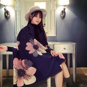 Mingjiebihuo New Cashmere Poncho Shawl con mangas Mujeres en otoño e invierno grueso cálido sólido tassel sólido chicas lj201113