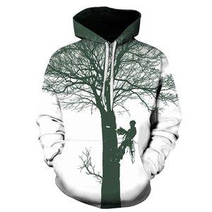 New 3D Digital Printing Lumberjater Hooded Tracksuit Long Sleeve Men and Women Sweatsuit Fashion Casual Sportswear