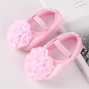 Baby Shoes Rose Flower Elastic Baby Girl Shoes Soft Bottom Non-slip Toddler Cute Newborn Infant Princess Walking