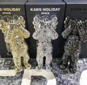 Nuovo 30CM 1.2KG Originalfake KAWS vacanze Spaceman Companion figura con la scatola originale 12inches KAWS figura di azione regalo modello decorazioni bambini